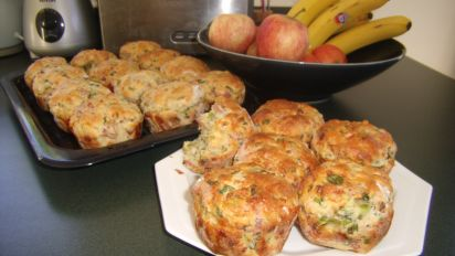 Cheese Bacon Breakfast Muffins Recipe Breakfast Food Com