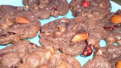 Chocolate Fruitcake Cookies