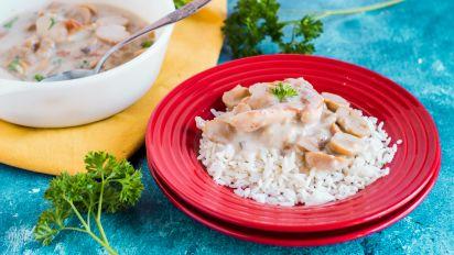 Crock Potslow Cooker Chicken In Mushroom Gravy