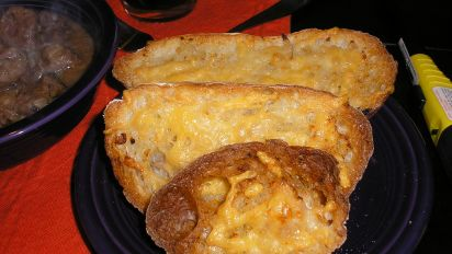 Cheesy Garlic Bread Recipe Cheese Food Com
