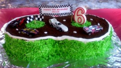 Admirable Racetrack Cake Recipe Food Com Funny Birthday Cards Online Aboleapandamsfinfo