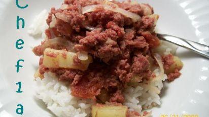 Filipino Corned Beef Hash Over Rice Recipe Food Com