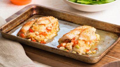 Flounder Stuffed With Shrimp And Crabmeat Recipe Food Com