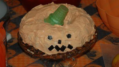 Phenomenal Halloween Pumpkin Cake Recipe Food Com Funny Birthday Cards Online Inifofree Goldxyz