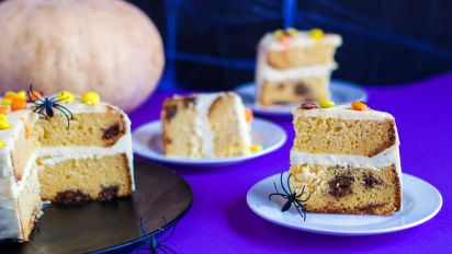 Reese S Peanut Butter Cup Cake Use Up That Halloween Candy
