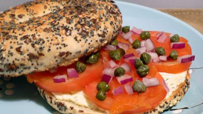 Bagels With Smoked Salmon Ww Recipe Food Com
