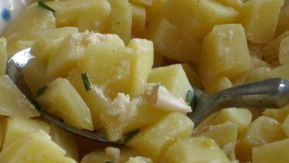 Spanish Tapas Potatoes In Garlic Mayonnaise