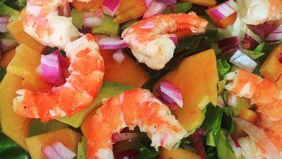 Shrimp Papaya Avocado Salad