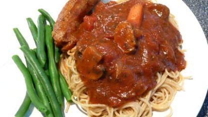 Mamas Spaghetti Sauce With Italian Sausage Recipe Genius Kitchen
