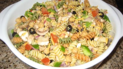 Easy Tri Color Pasta Salad