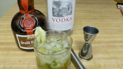 Cucumber Kumquat And Mint Vodka Cocktail