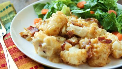crack chicken casserole with tater tots
