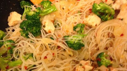 Crazy Chicken Rice Noodle Stir Fry Recipe Food Com
