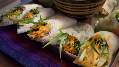 Vegetarian Fresh Spring Rolls Recipe Food Com