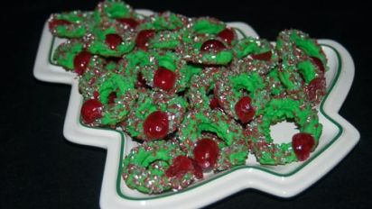 Cream Cheese Wreath Cookies