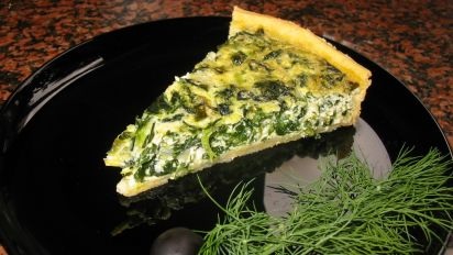 Spinach Feta Quiche Recipe Breakfast Food Com