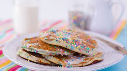 Surprising Cake Batter Pancakes Recipe Food Com Personalised Birthday Cards Veneteletsinfo