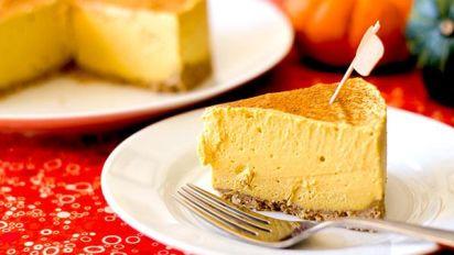 No Bake Vegan Pumpkin Cheesecake Gluten Free Diabetic Friendly