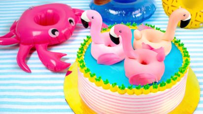 Surprising Pool Party Cake Recipe Food Com Funny Birthday Cards Online Inifodamsfinfo