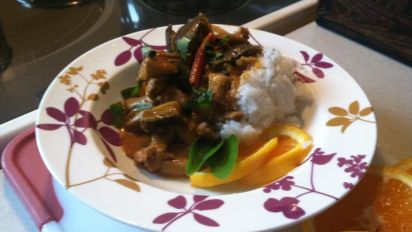 Thai Red Curry Chicken And Eggplant Aubergine