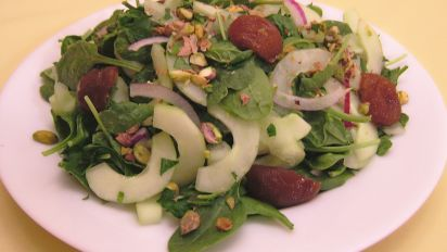 Armenian Spinach Plum Salad
