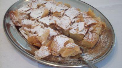 Bougatsa Greek Cream Filled Phyllo Pastries Recipe Food Com