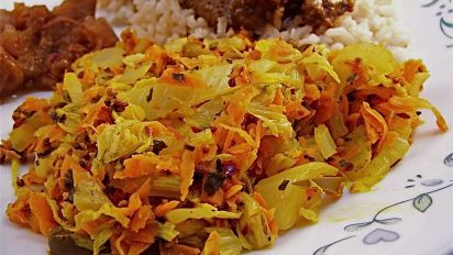 Indian Cabbage And Carrots Recipe Food Com
