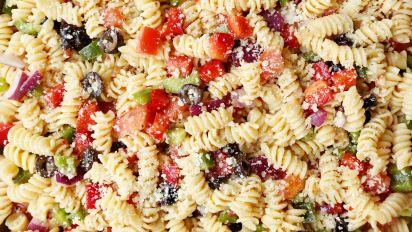 The Best Easy Pasta Salad Recipe How To Make Pasta Salad Food Com