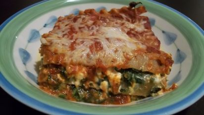 Portabella Mushroom With Spinach And Feta Lasagna Vegetarian
