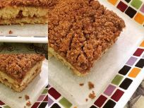Gluten Free Easy Sour Cream Coffee Cake
