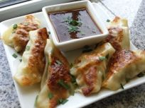 Pot Stickers With Chili Pineapple Dipping Sauce #A1