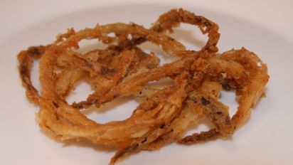 Crispy Fried Onion Strings Recipe Genius Kitchen