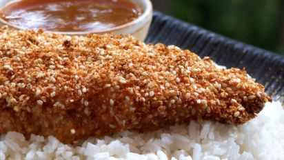 Easy Sesame Chicken With Apricot Sauce Recipe Chinese Genius Kitchen
