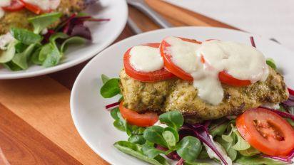 Baked Pesto Chicken Recipe Genius Kitchen