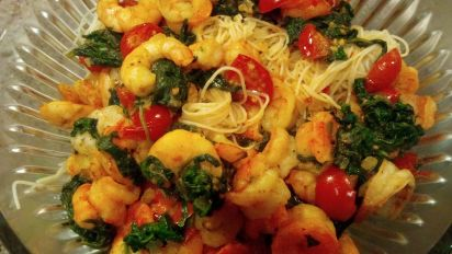 Angel Hair Pasta With Shrimp And Spinach Recipe Genius Kitchen