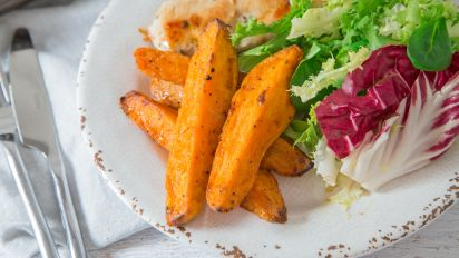 Ina Gartens Baked Sweet Potato Fries Recipe Genius Kitchen