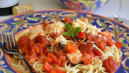 Angel Hair Pasta With Tomato Scallop Sauce Recipe Genius Kitchen