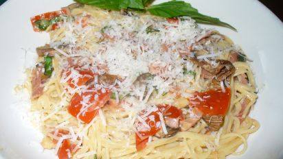 Angel Hair Pasta With Prosciutto And Wild Mushrooms Recipe Genius