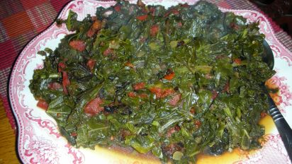 Kenyan Greens Simmered With Tomatoes Sukuma Wiki Recipe Genius