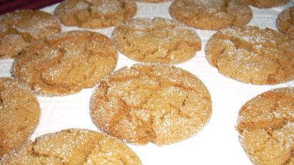 Crackle Top Molasses Cookies Recipe Genius Kitchen