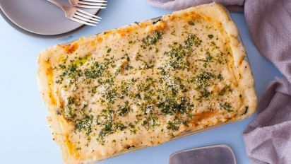 White Cheese Chicken Lasagna Recipe Genius Kitchen