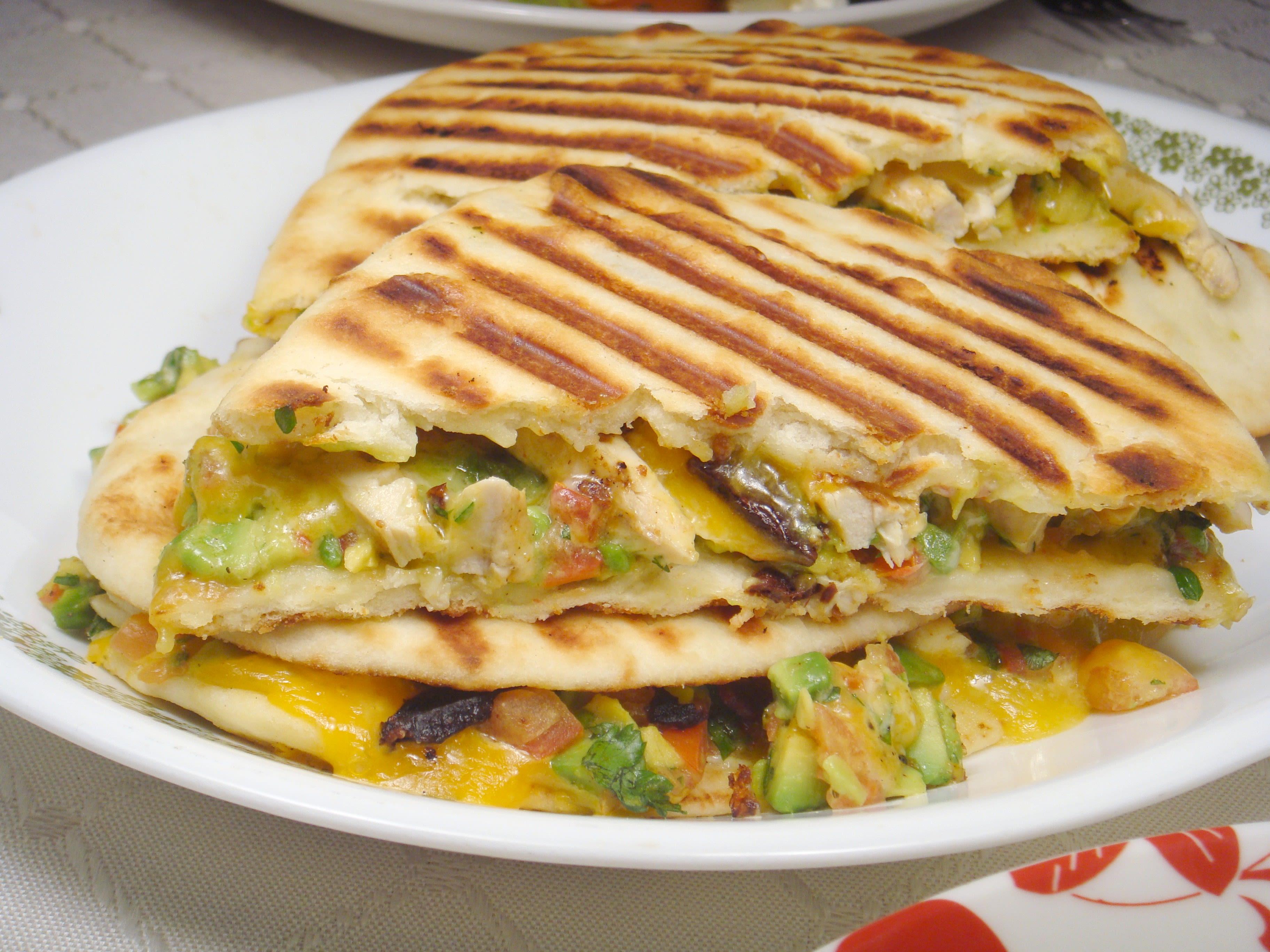 Chicken And Avocado Panini Sandwiches Recipe Genius Kitchen Jpg 3648x2736 Tortilla Recipes