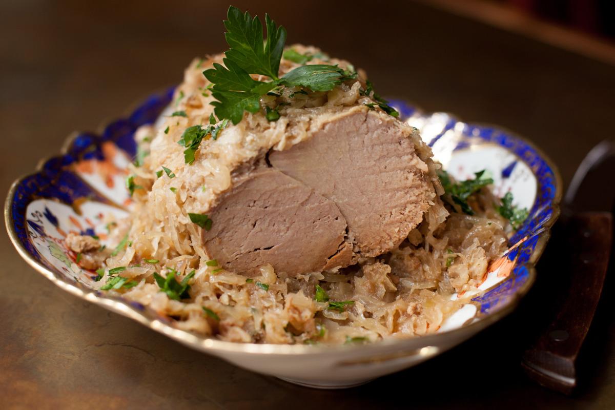 Crock Pot Pork Roast and Sauerkraut image