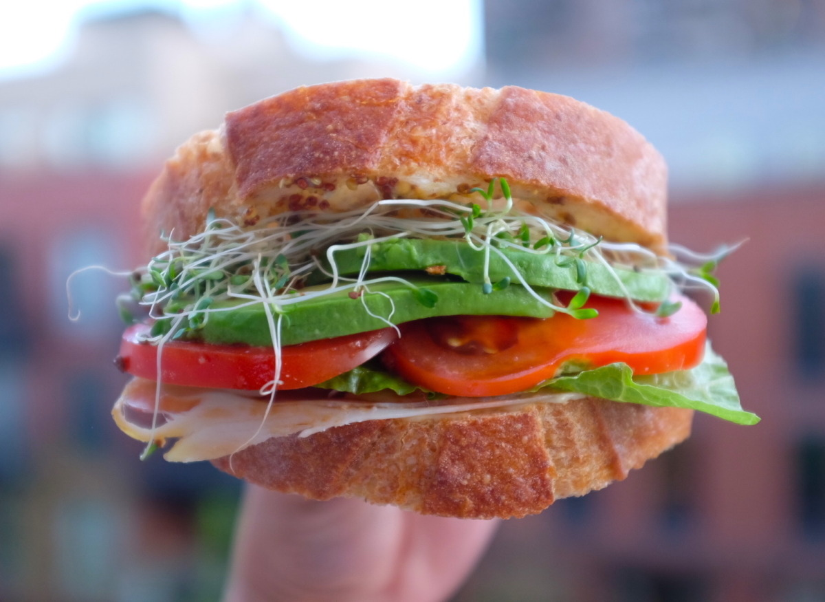 Tomato, Cheese, and Avocado Sandwich image