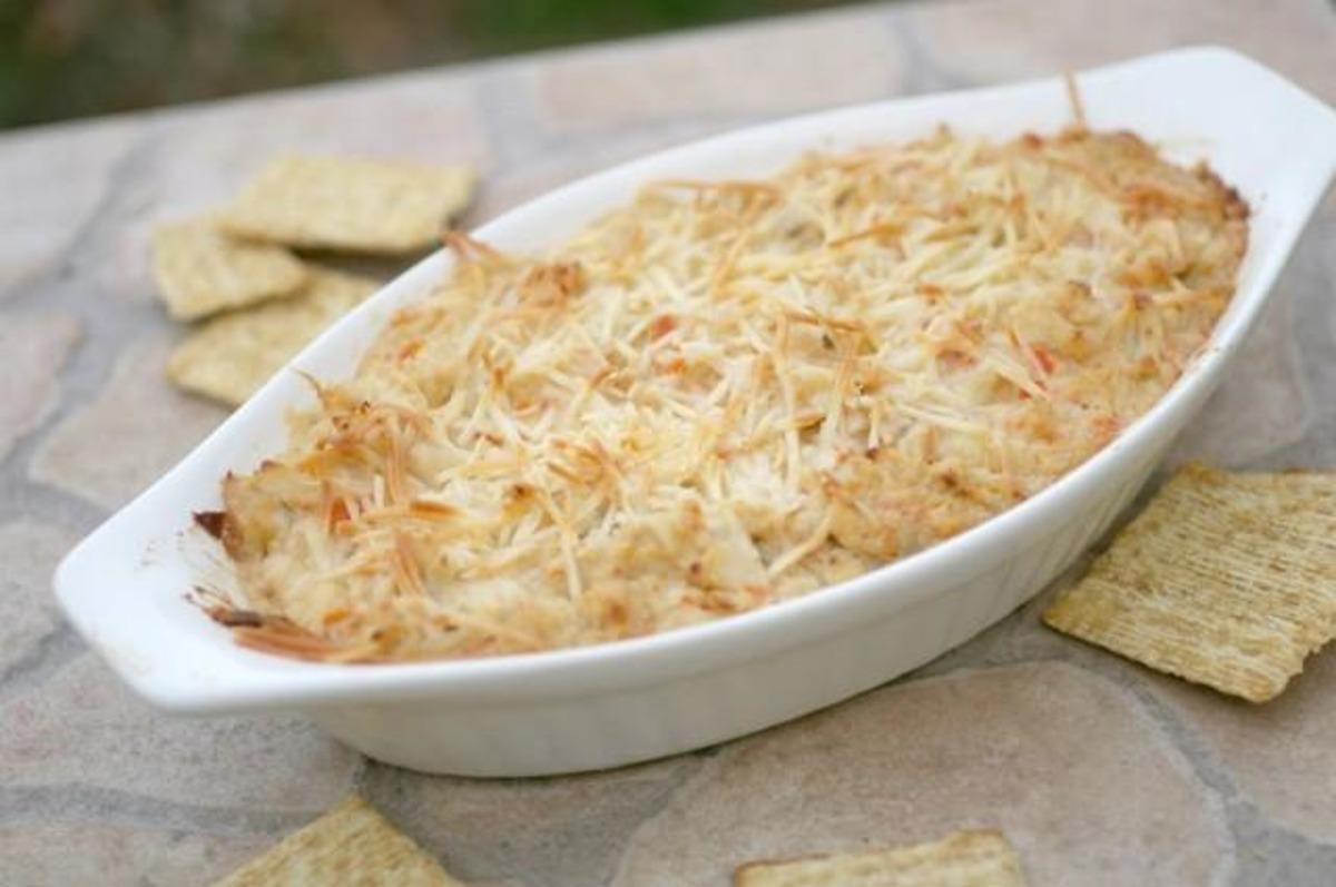 Awesome Cheesy Hot Crab Dip Recipe Food Com