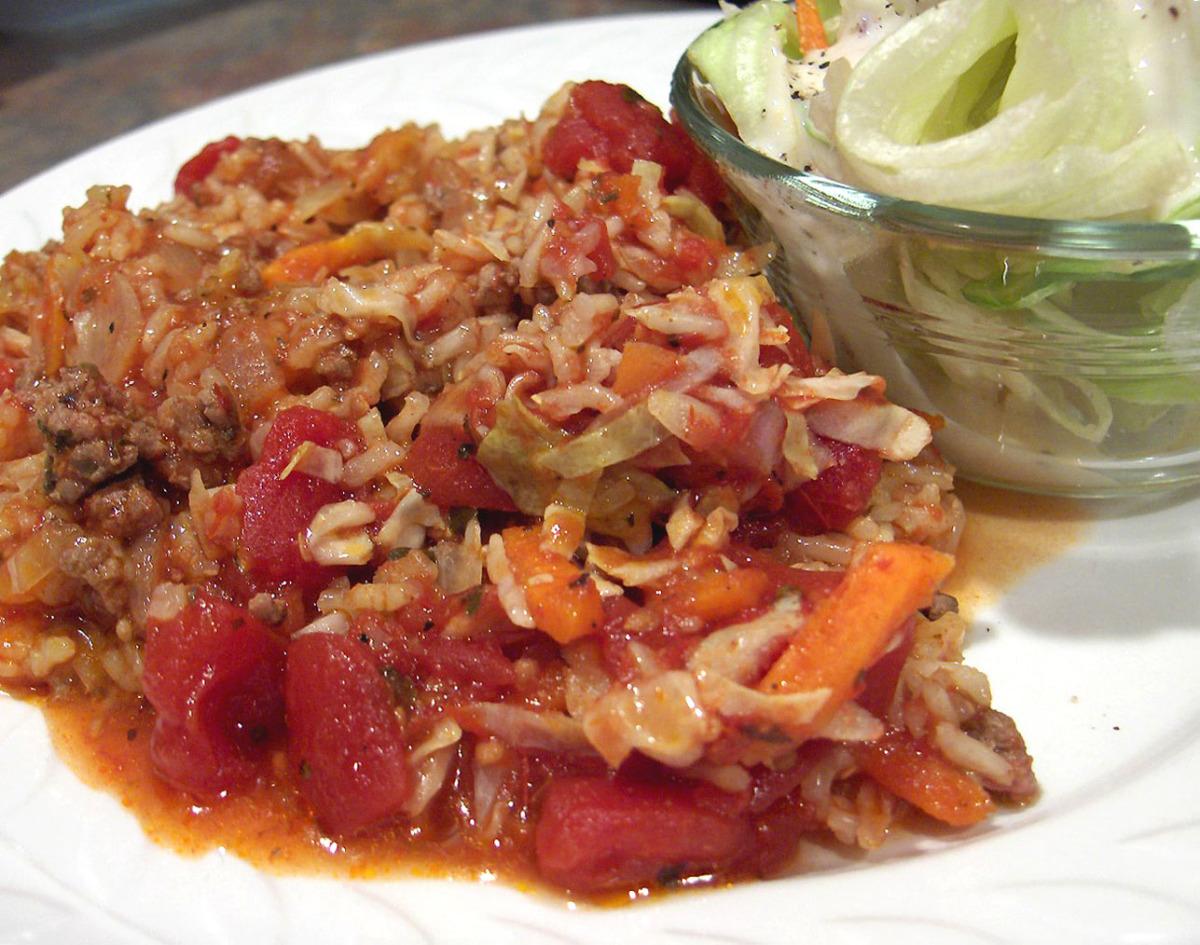 Crock Pot Hamburger Cabbage Casserole-Revised image