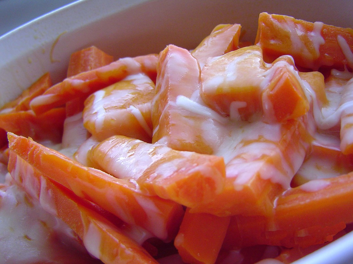 Cheese and Honey Glazed Carrots