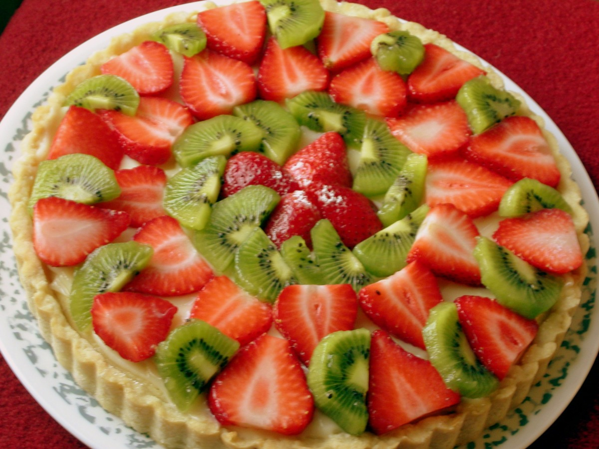 Kiwi Strawberry Tart image