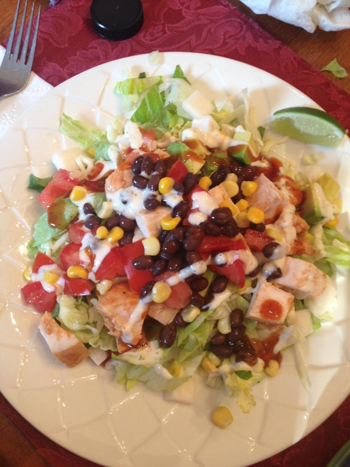 Fabulous California Pizza Kitchens Bbq Chicken Salad Interior Design Ideas Skatsoteloinfo