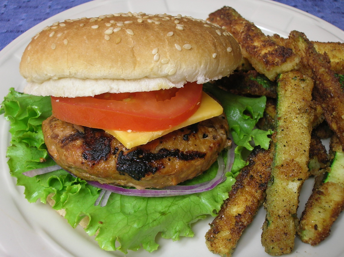 Kittencal S Moist Turkey Burgers For The Grill Low Fat Recipe Food Com